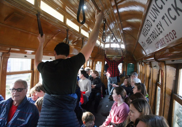Riders pack Loop Trolley on its last weekend