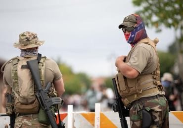 Gun-toting protesters seen outside vote-counting centers