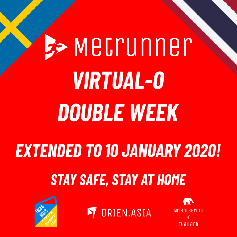 Metrunner Virtual Orienteering Contest - Sweden and Thailand - extended to 10 January 2021