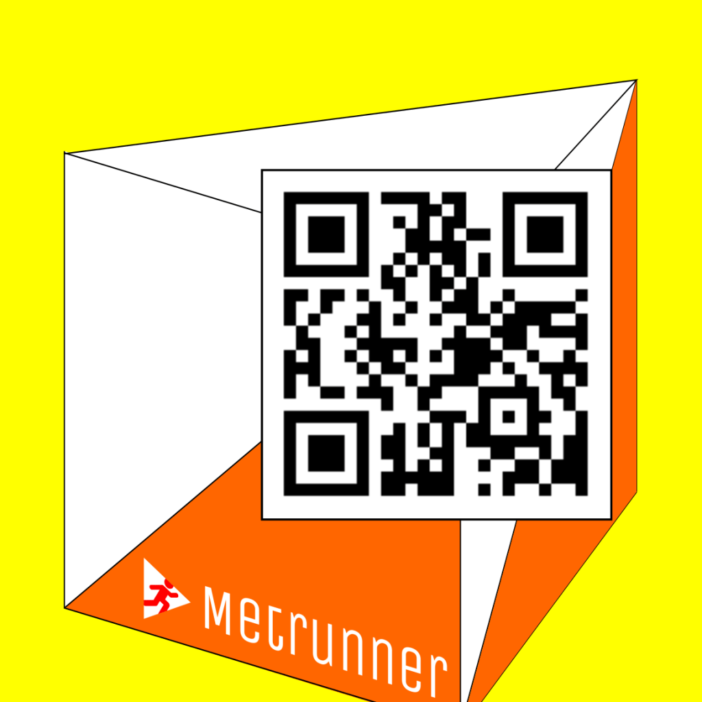 Metrunner mode B - QR code - used QR codes to verify the user's visit of a location and deliver content accordingly