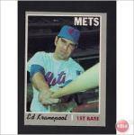 Ed Kranepool and the bat pose