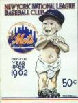 Orange and Blue Collector: The 1962 Mets yearbook