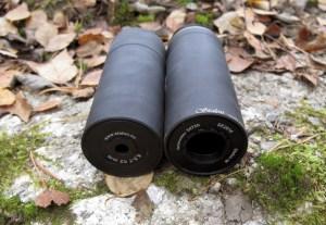 Stalon W110 -äänenvaimentimen etu- ja takaosat