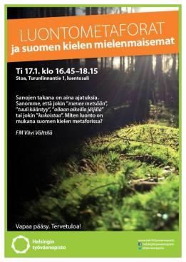Luontometaforat ja suomen kielen mielenmaisemat -luento