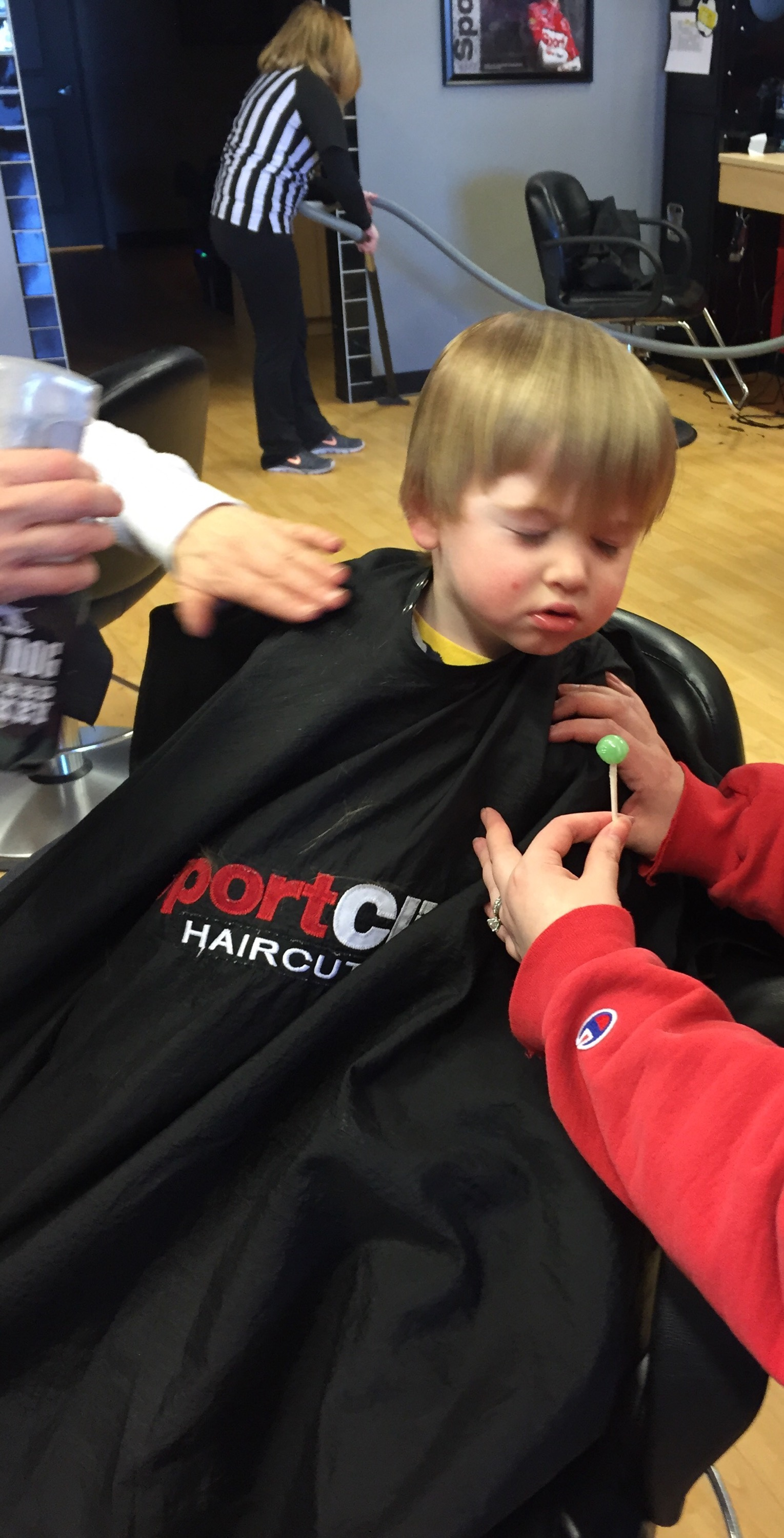 sport clips is better than snip-its for toddler haircuts