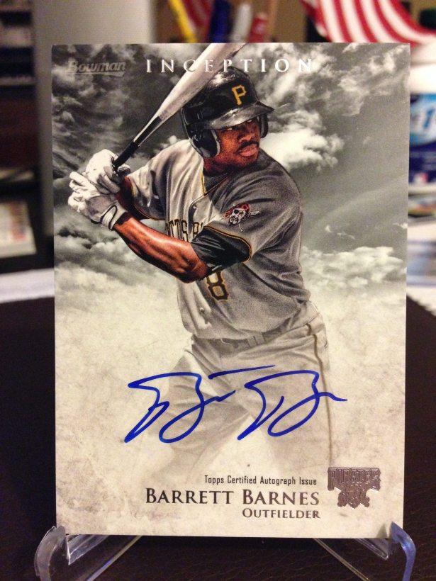 2013 Bowman Inception #PA-BBA Barrett Barnes Auto