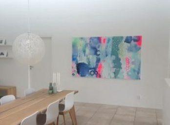 stort maleri farverigt