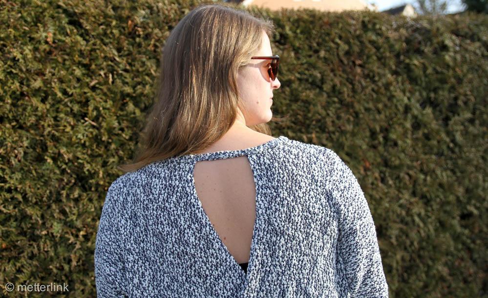 metterlink näht: Frau Vega mit Rückenausschnitt von Fritzi und Schnittreif aus Strickstoff