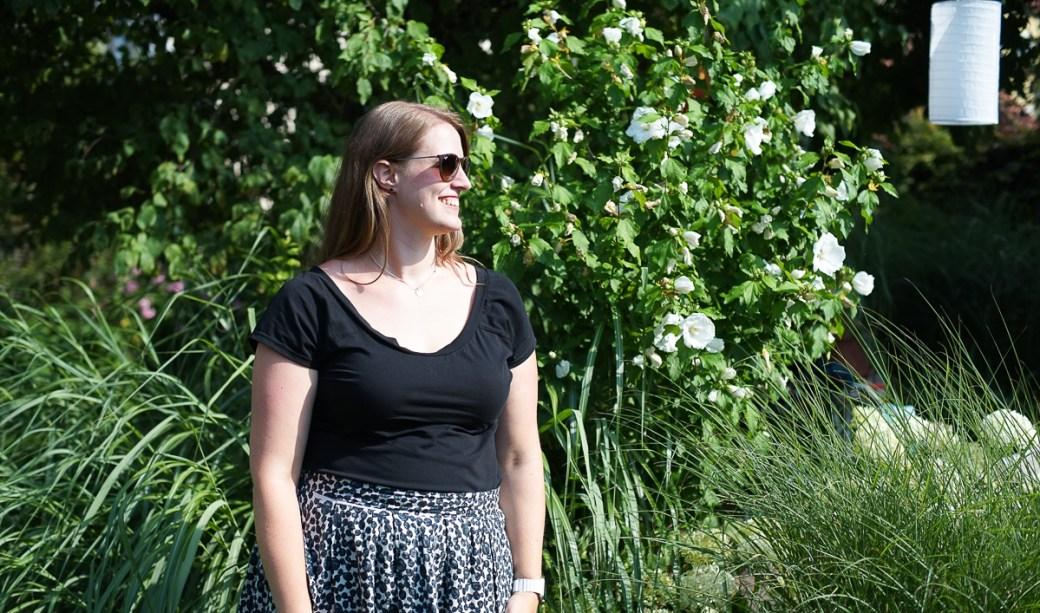 metterlink näht: Fairelith Top mit Rückenausschnitt in Kurzarm