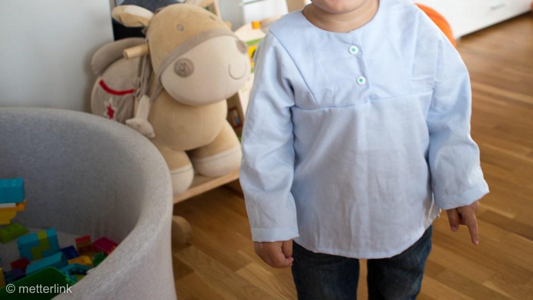 metterlink näht: Kinder Hemd Holunder von Firlefanz aus altem Hemd upcycling
