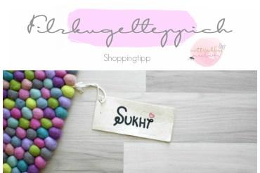 Filzkugelteppich handmade online shop