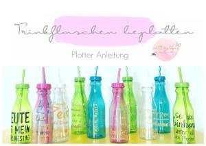 Sommer Flaschen beplotten Anleitung freebie