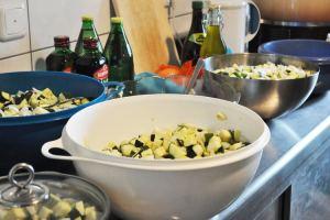 Eingemachte Zucchini - Vorbereitungen