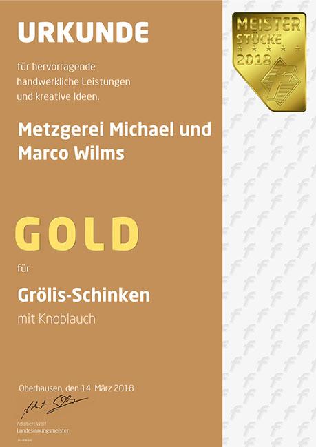 Auszeichnung Grölisschinken 2018