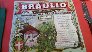 Blutwurst und Braulio, das Tischset sagt schon alles