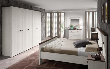Slaapkamer in fineermassief eik New Port  Meubelen DE