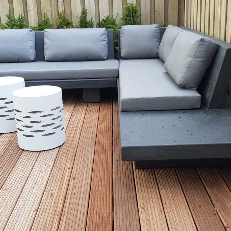 Base XLight lounge , in betonlook finish antraciet