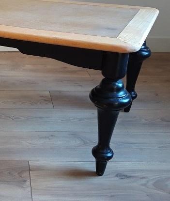 table basse noir bois baroque