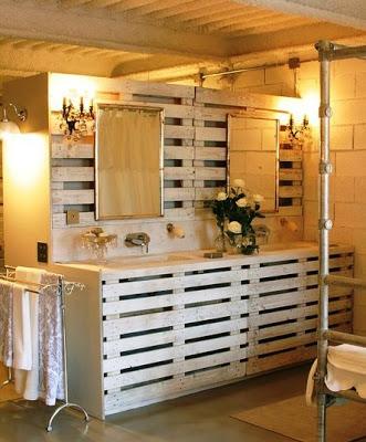 Meubles de palette pour la salle de bainMeuble en Palette  Meuble en Palette