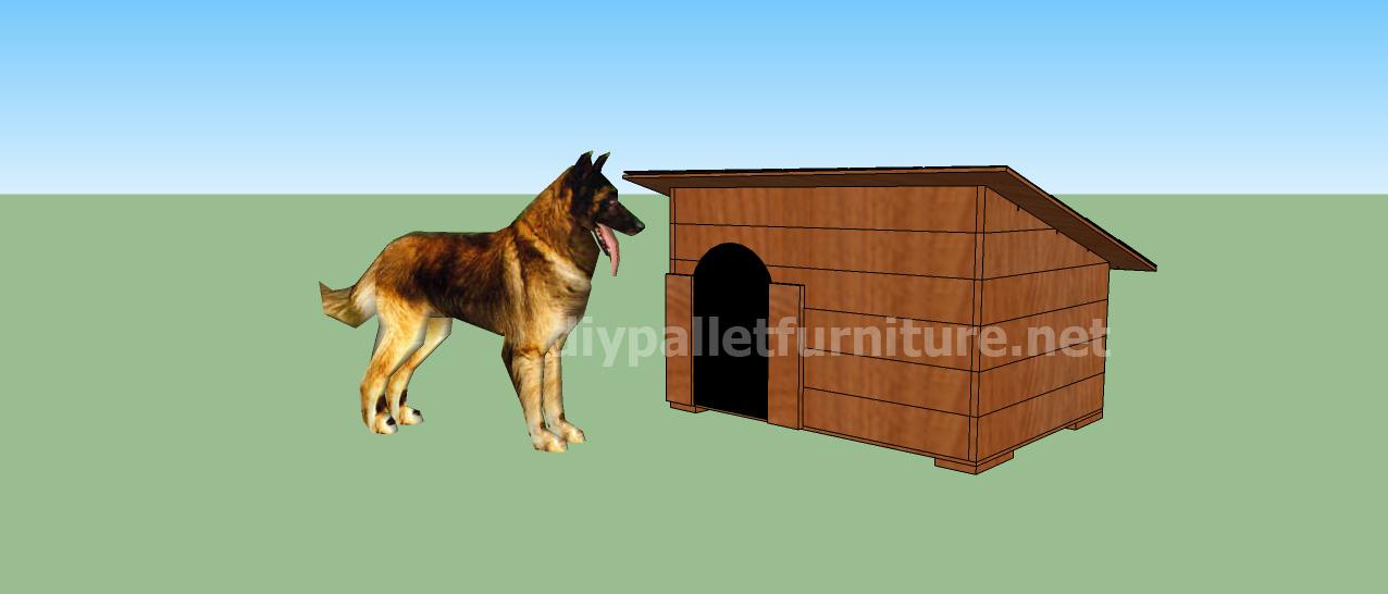 Projet et des plans pour construire une niche pour chien avec des palettesMeuble en Palette