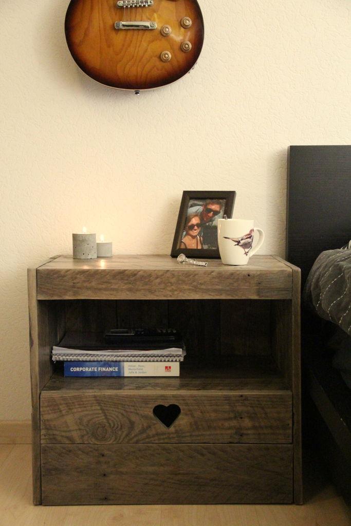 Instructions sur la faon de construire une table de chevet avec des palettes Meuble en Palette
