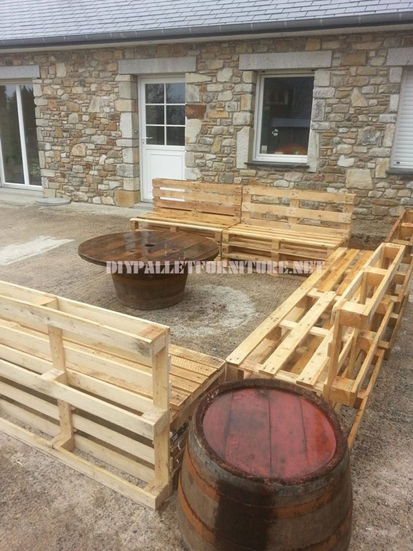 Canap Et Table Basse Pour Le JardinMeuble En Palette