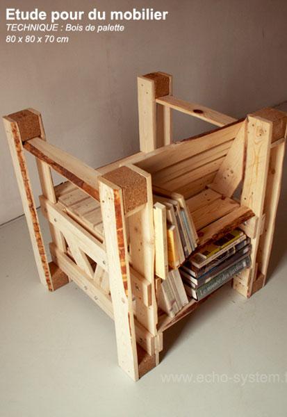Design intressant 2 en 1 dune chaise et bibliothque avec des palettesMeuble en Palette