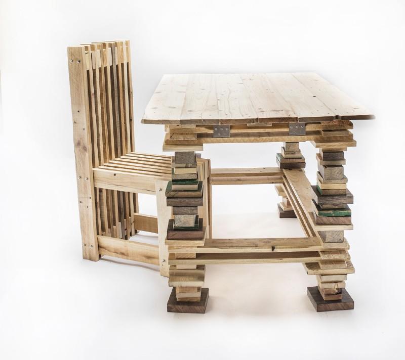 Bureau Et Chaise Design Avec Des PalettesMeuble En Palette