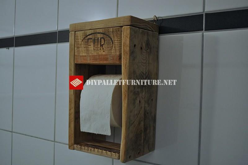 Porte Rouleau De Papier ToiletteMeuble En Palette Meuble