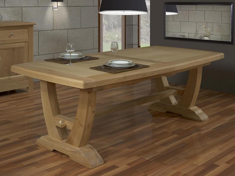 Table Rectangulaire Monastre Gautier 220x110 2 Allonges
