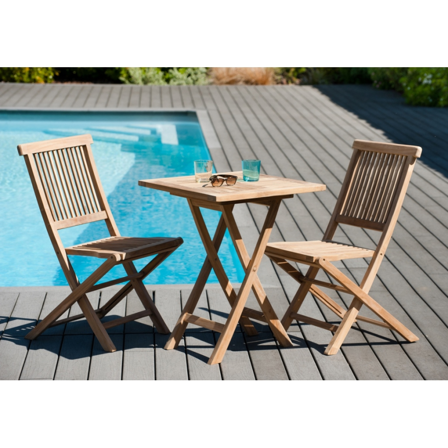 Table De Jardin Teck Pliante Table Carrée Pliante 60 X 60 Cm Teck