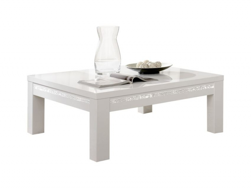 table basse roma cromo blanche