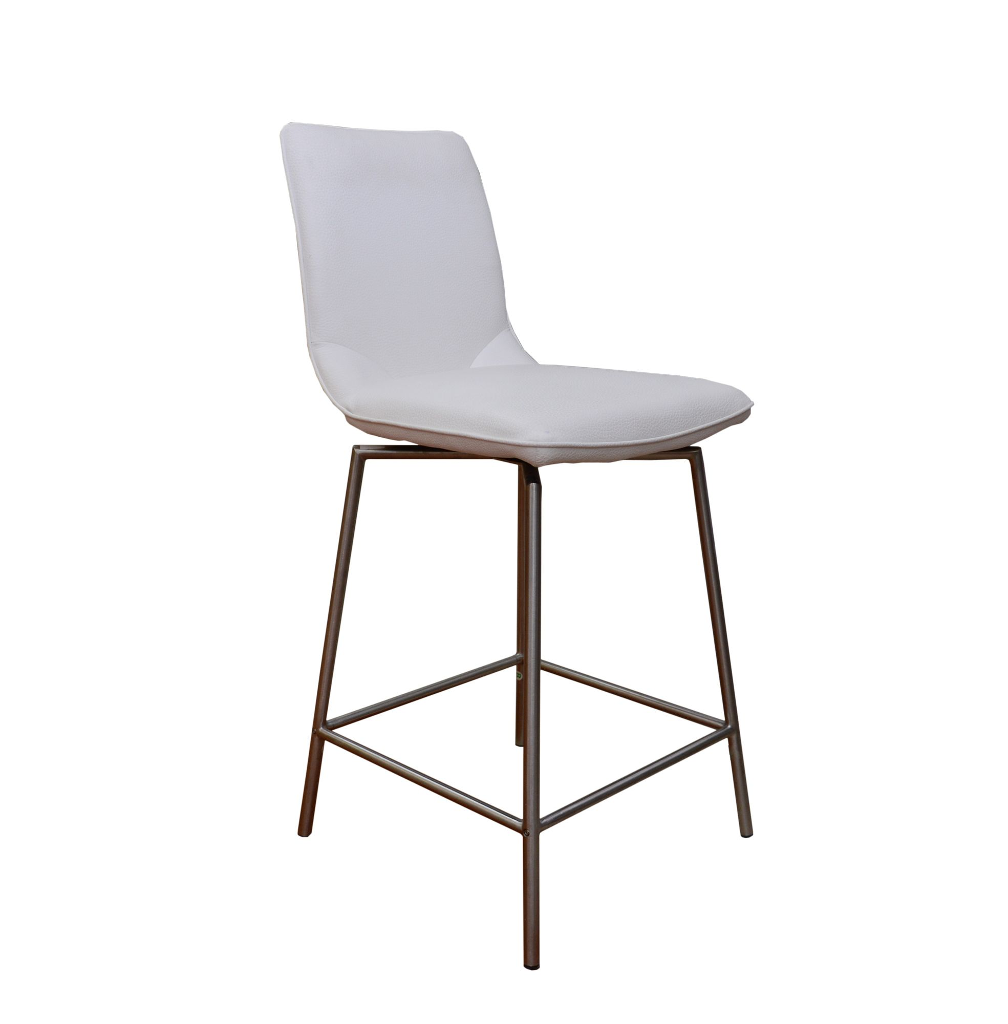 Swivel Bar Chairs Davy Tatra Swivel Bar Stool Faux Leather White