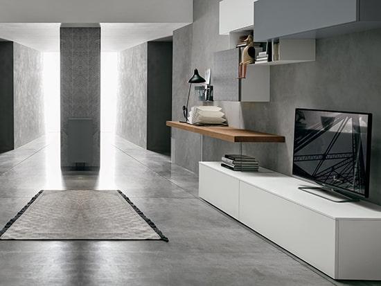 composition meuble tv et bureau a054
