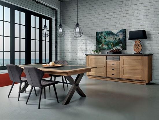 table a manger industrielle extensible