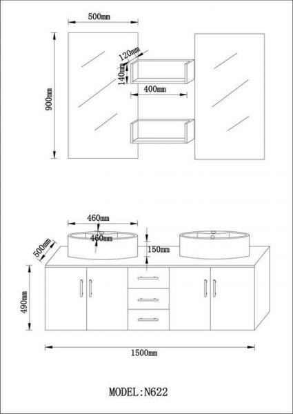 Double Vasque Salle De Bain Dimension - Boisholz