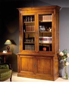 bibliotheque 4 portes merisier massif meubles duquesnoy frelinghien nord