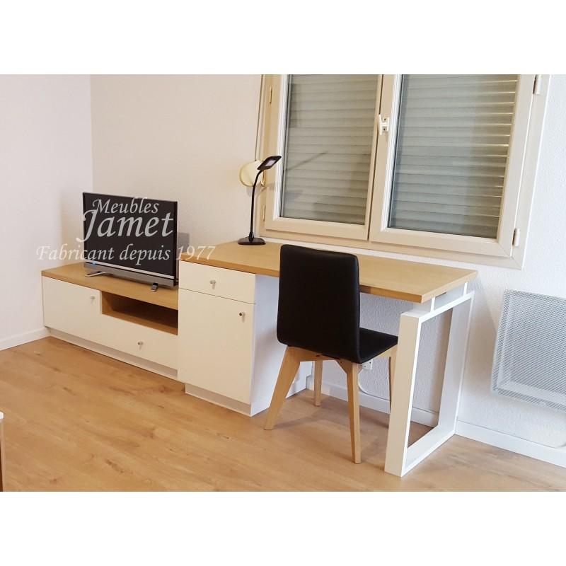 ensemble bureau meuble tele ref bs 655