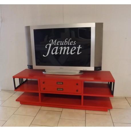 meuble tv style industriel en chene meublesjamet