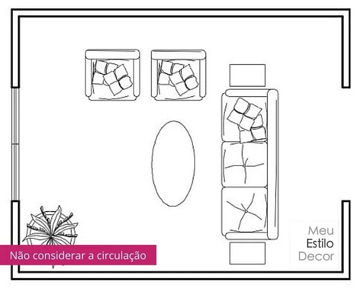 Como Distribuir Móveis 7 Regras Espertas sofá de costas