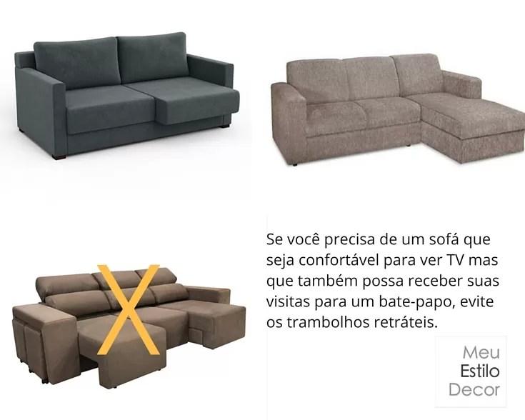 Como escolher sofa sem stress trambolhos retrateis