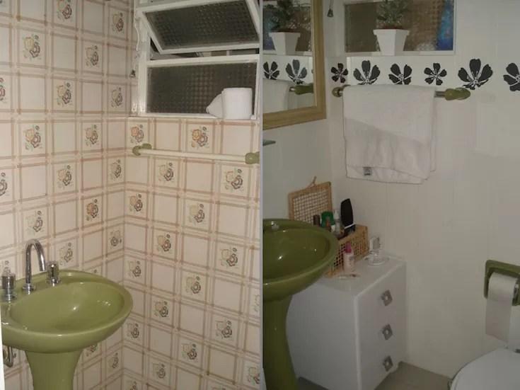 Banheiro feio como salvar seu banheiro sem reforma - Pinturas para pintar azulejos ...