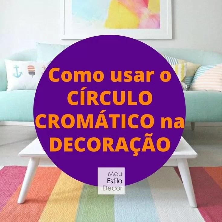 como usar circulo cromático na decoração