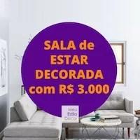 Sala de Estar Decorada com R$ 3.000