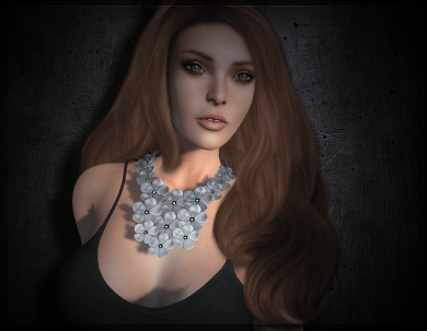 Meva Leather Flower Necklace Ad Pic