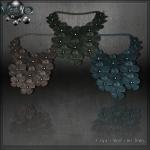 Meva Leather Flower Necklace Brown Vendor