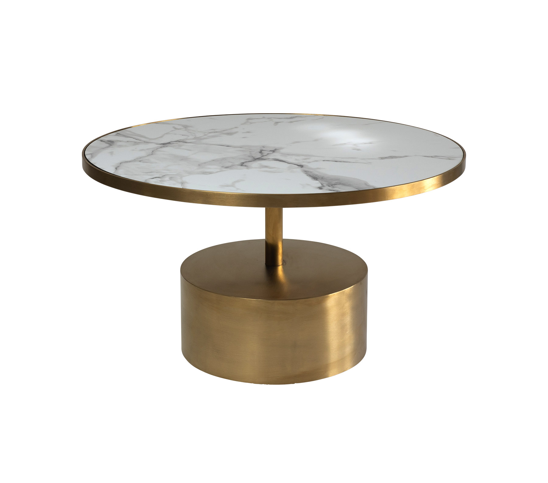 coco coffee table gold white marble
