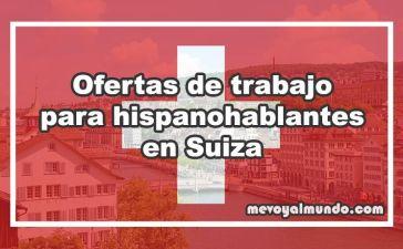 Ofertas de trabajo para españoles en Suiza
