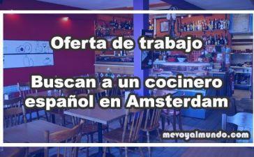 Oferta de trabajo cocinero, Amsterdam