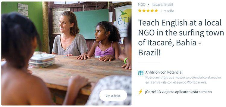Voluntariado en Brasil